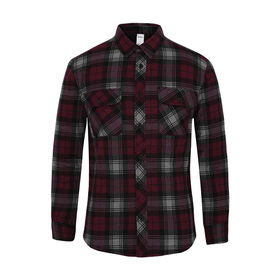 97361229a93d Long Sleeve Quilted Flannel Shirt
