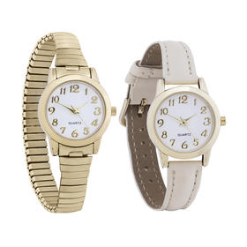 2 Pack Gold Classic Watch
