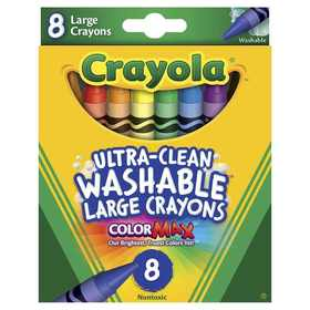 Crayola 8 Pack Ultra-Clean Washable Large Crayons
