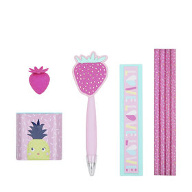 8-Piece Pen & Pencil Pack - Pink