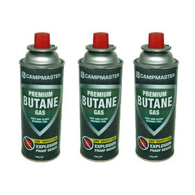 Campmaster 3 Pack Premium Butane Gas Canisters