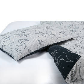 Dino Reversible Quilt Cover Set - Single Bed