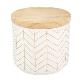 Small Herringbone Canister
