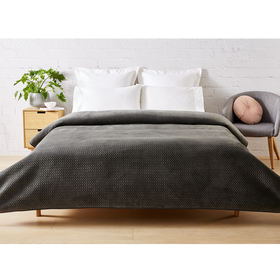 Lana Grey Coverlet - Queen/King Bed, Grey