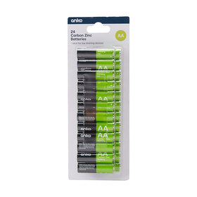 AA Carbon Zinc Batteries - Pack of 24