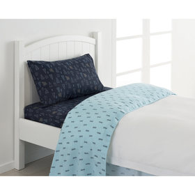 Flannelette Sheet Set - Single Bed, Adventure
