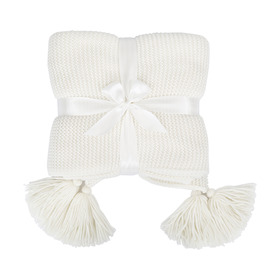 Tassel Throw - Creme