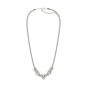 Multi Charm Necklace Set - Silver Look