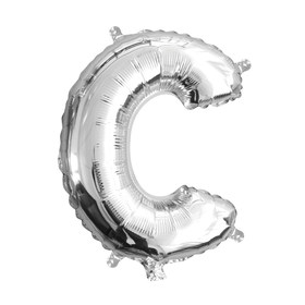 Air-Filled Letter C Foil Balloon