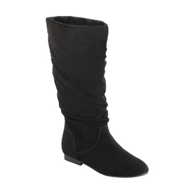 Long Flat Ruched Boots